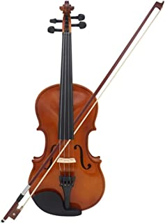 Full Size 4/4 Natural Acoustic Violin Fiddle with Case Bow