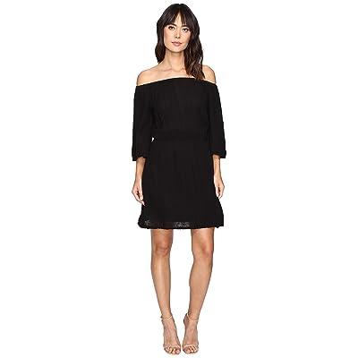 Michael Stars Double Gauze Off Shoulder Dress (Black) Women
