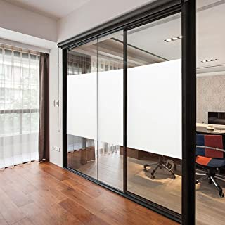 Sugo Window Privacy Film Non Adhesive Frosted Window Glass Films Self Static Cling Vinly Glass Window Sticker Covering for...