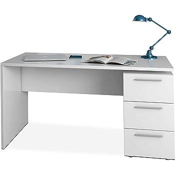 Habitdesign 004605A - Mesa de despacho 3 cajones, Mesa Escritorio Color Blanco Artik, Modelo Stylus, Medidas: 138 (Largo) x 60 cm (Ancho) x 74 (Alto): Amazon.es: Juguetes y juegos