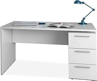 comprar comparacion Habitdesign 004605A - Mesa de despacho 3 cajones, Mesa Escritorio Color Blanco Artik, Modelo Stylus, Medidas: 138 (Largo) ...