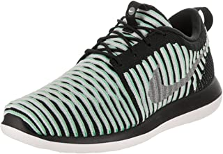Kids Roshe Two Flyknit (GS) Running Shoe, Green, 4.5 M US