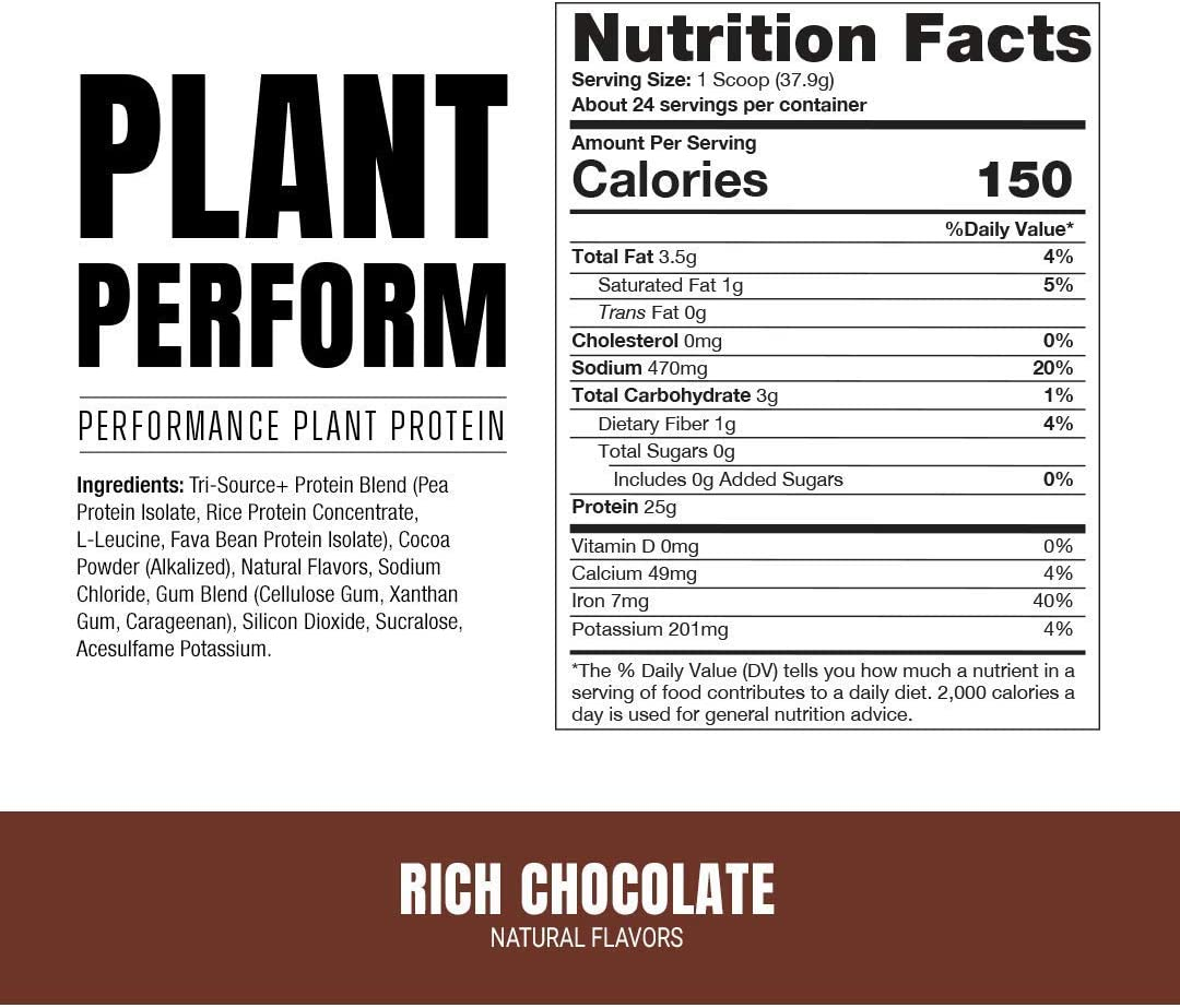 Buy ProSupps Plant Perform Plant Based Protein Powder Improves Performance,  Supports Muscle Growth, and Recovery - Dairy Free Protein Drink for  Digestion Support (Rich Chocolate, 2 Pounds) Online in Indonesia. B08KTZDR2F