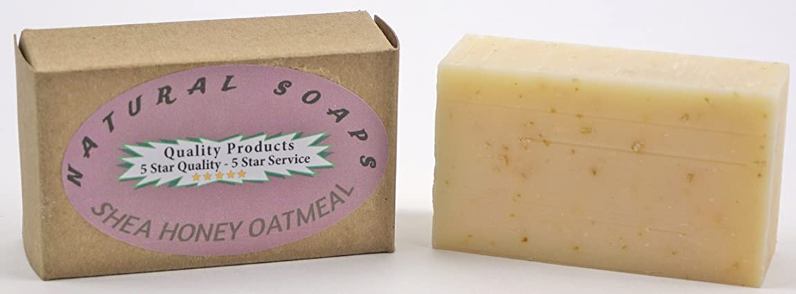 ORGANIC Handmade Shea Honey Oatmeal Soap, Unscented. So good for your skin! Use on Hands, Face, or All over Body 4.3oz bar tm293680574197