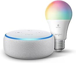 Echo Dot (3rd Gen) - Smart speaker with Alexa - Sandstone Sengled Bluetooth Color bulb