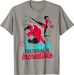 Pixar Incredibles Couple Heart Valentine T-Shirt