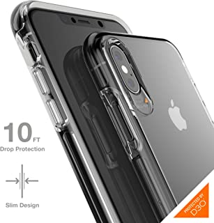 Gear4 Crystal Palace Case with Advanced Impact Protection by D3O Compatible with iPhone XS Max - Clear