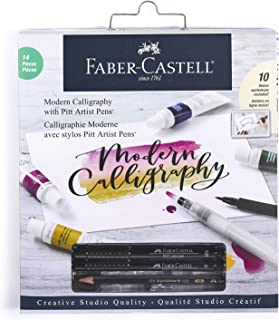 Faber-Castell Modern Calligraphy Kit - Lettering and Calligraphy Crafts for Adults with Pitt Artist Pens