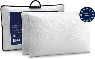 ZenPur Oreiller Memoire Forme Cervicales Douloureuses Fabriqué en Europe - Certification Oeko TEX - Oreiller Anti Ronfleme...
