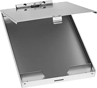 Blue Summit Supplies Aluminum Storage Clipboard, 1 Compartment, Small Heavy Duty Clip for Letter Paper, Great for Office, Jobsite or Classroom