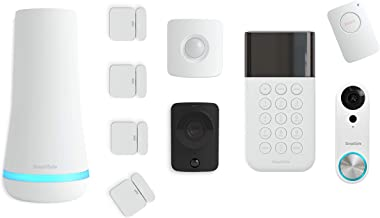 SimpliSafe 10 Piece Wireless Home Security System w/HD Camera and Video Doorbell-Optional 24/7 Professional Monitoring-No Contract-Compatible with Alexa and Google Assistant, pc, White
