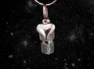 Pasco Specialty Products Classic Mini PUFFED HEART Silver Personal CREMATION URN Keepsake - Includes Velvet Pouch & Fill Kit