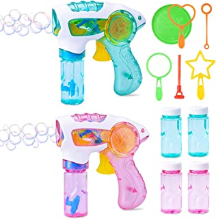 Electronic Bubble Blower Machine Outdoor Toy for Kids JMe Bubble Machine Lawn Mower with 6 Bubble Wands and Bubble Refill Bottle Bundle Boys and Girls