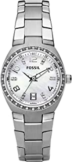 Fossil Womens Quartz Watch, Analog Display and Stainless Steel Strap AM4141