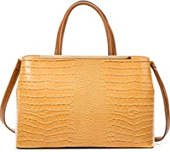 Dasein Croco Leather Textured Laptop, Tablet, iPad Tote Satchel Briefcase Shoulder Bag Handbag Purse