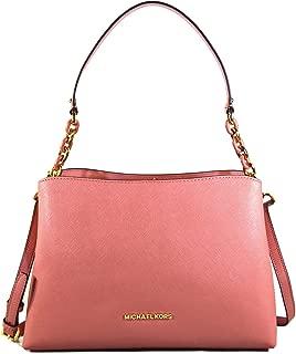 Michael Kors Sofia Large East West Saffiano Leather Satchel Crossbody Bag Purse Tote Handbag