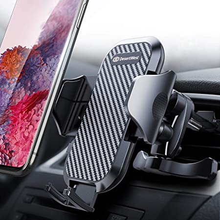 DesertWest Air Vent Car Phone Mount [2nd Generation] Cell Phone Holder Easy One Touch Strongest Compatible with iPhone Samsung Galaxy LG Google Huawei and More