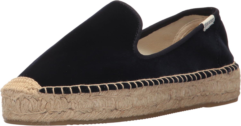 Soludos Womens Velvet Smoking Slipper Loafer Flat