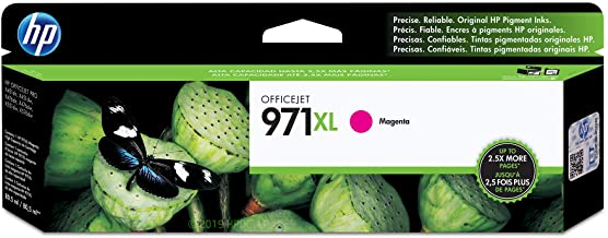 HP 971XL | PageWide Cartridge High Yield | Magenta | Works with HP OfficeJet Pro X451, X476, X551, X576 | CN627AM
