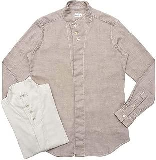 Bagutta(バグッタ)コットンダイアゴナルフランネルソリッドハイネックシャツ NECK GBL/09553 11092001054