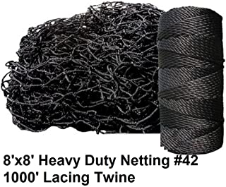 Deluxe Baseball Batting Cage Repair Kit, 8'x8' Netting #42 (54 ply) and Twine