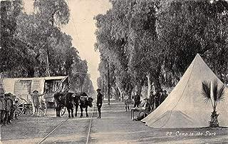 Ontario California Camp in the Park Ezera Meeker Oregon Trail Postcard J81067