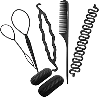 CCbeauty Hair Styling Accessories Hair Twist Tool Magic French Braid Tool/Bump Up Volume Hair Inserts/Topsy Tail Kit/Bun Maker/Hair Comb for Women