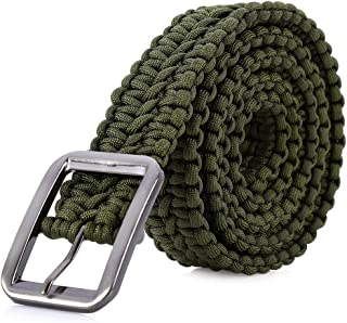 Stylrtop Tactical Waist Belt Survival Woven Belt for Camping, Hunting, Hiking, and Other Outdoor Activities(Length: 1.2 Me...