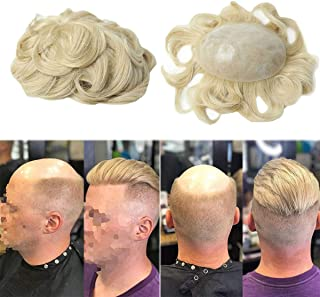 Full Poly Mens Toupee Thin Skin Mens Hairpieces #22R PU Men Hair Replacement Systems,8 * 10