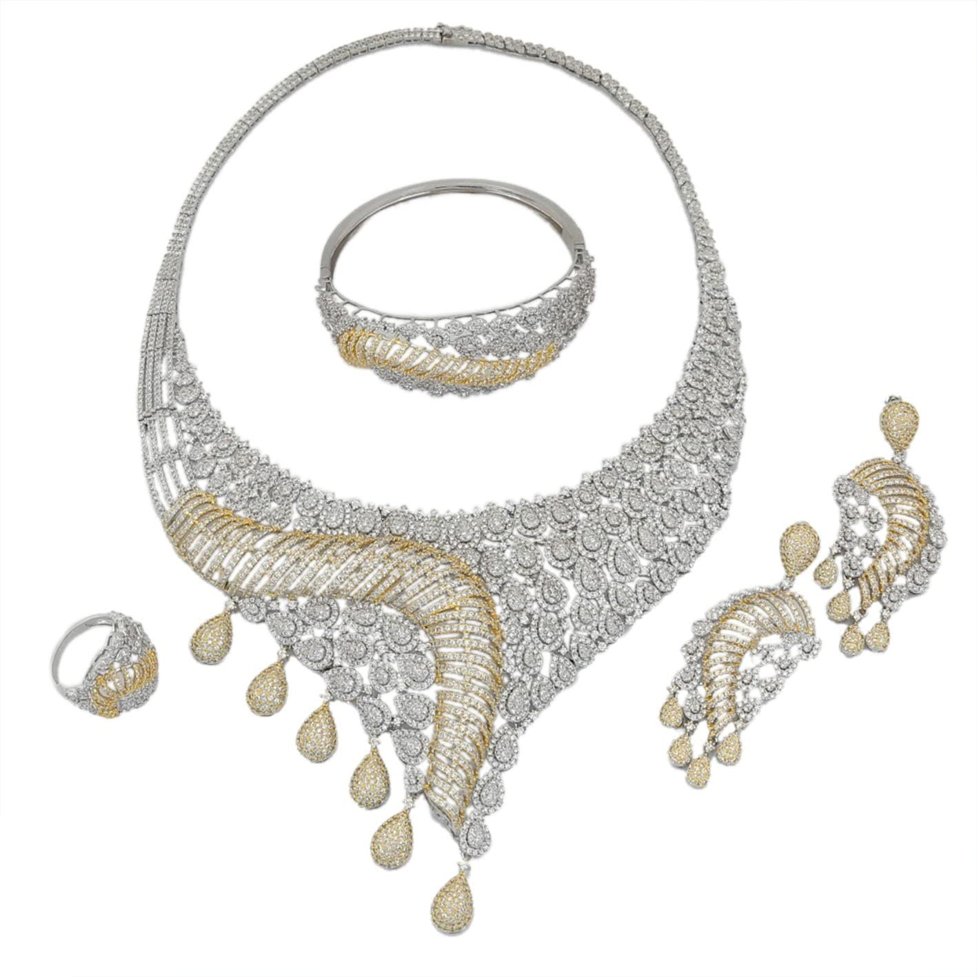 American Diamond Jewelry Set Earrings Rings Costume Choice Fort Worth Mall Sau Necklace