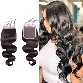 5x5 Closure Body Wave Lace Closure Peruvian Virgin Human Hair Lace Closure 5x5 Lace Base Silky Free Part Preplucked Lace Closure With Baby Hair Cheap 5x5 Lace Closure For Black Women 1b(12inch)