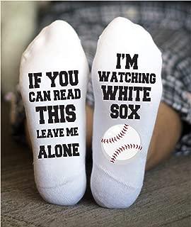 White Sox Socks Funny Birthday Gift Baseball Game Day Chicago