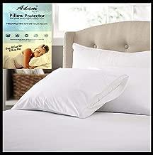"Adam Linens Fresh nights Anti Allergy Zipped 100% Cotton Pair of Pillow Protectors White Size 74cm x 48cm (29"" x 19"")"