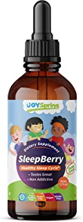 SleepBerry Liquid Melatonin for Kids - Natural Sleep Aid with Elderberry and Vitamin D - Boost Immune System While They Sl...