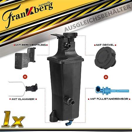 Kühlerausgleichsbehälter Ausgleichsbehälter Kühlmittel Mit Sensor Deckel Vorne Für 3er E46 316 318 320 330 X5 E53 17111436413 17117573781 17132247553 17137787039 603 535 Auto
