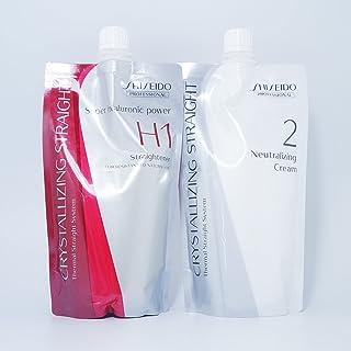 Shiseido Crystallizing Straight Hair Straightener H1 + Neutralizer Cream Set for Resistant to Natural Hair