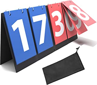 Synergee Flipper Scoreboard Portable Tabletop Flip Score Keeper. Great for Soccer, Ping Pong, Baseball, Basketball, Volleyball and Other Sports