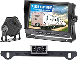 $149 » DoHonest V27 AHD 1080P RV 2 Backup Camera Kit 7 Inch LCD Monitor for RVs,Trailers,Trucks,5th Wheels,High-Speed Rear View O...