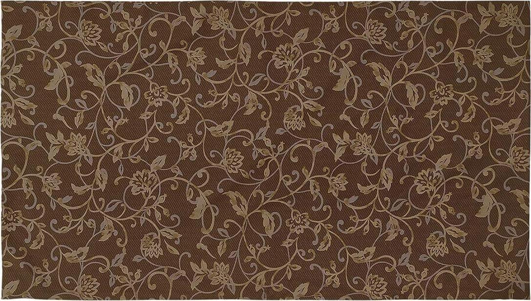 厚さかご速記長ざぶとんカバー 約68×120cm 大判(東北判) アラベスク 綿100% ブラウン