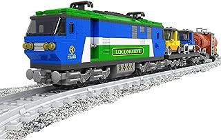 Bestoyz Express Locomotive Trains Building Bricks Set, Collectible City Railroad Train Track Kit Toys for Kids (573PCS)
