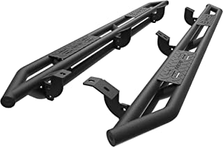 oEdRo Running Boards Compatible for 2007-2018 Toyota Tundra CrewMax, Textured Black Side Step 6 inch Nerf Bars