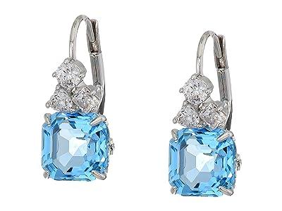 Swarovski Sparkling Pierced Earrings (Aquamarine) Earring