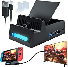 $25 » WATSABRO Switch Dock,Portable Switch Docking Station for Nintendo,Switch Docking Station Charger with HDMI Cable,Nintendo Switch Docking Station Supporting 4K1080P HDMI Video Port and USB3.0 Data Port