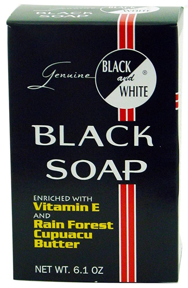 保証金サルベージラッカスBlack and White ソープ、6.1オンス