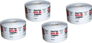 Oil Change/service Reminder Stickers 2,000 Stickers (4 Rolls of 500 Stickers)