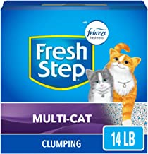 Fresh Step Scented Litter with The Power of Febreze, Clumping Cat Litter – 14 lbs