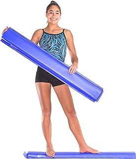 Juperbsky Balance Beam for Kid's Gymnastics Practice - Easy to Store, Non Slip, 4ft Long - Floor Gym Equipment for Teens Hone Skills at Home