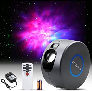 LUUMEO® Night Light Galaxy Star Projector 7 in 1 Remote Control LED Nebula Cloud Living Bedroom Decorations Home Theater L...