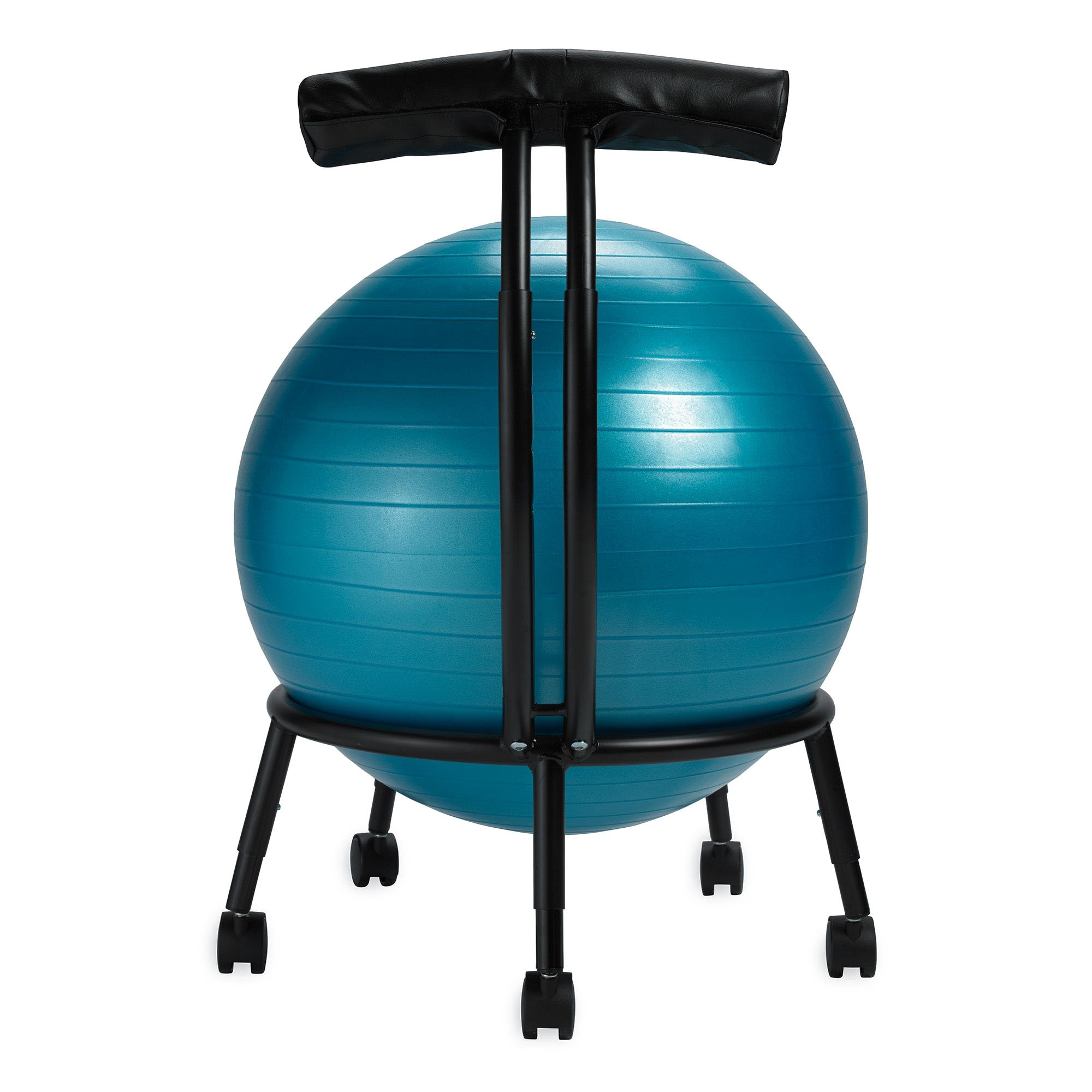 Balance Ball Chair Exercise Stability Yoga Ball Premium Ergonomic Chair for Home and Office Desk with Air Pump Exercise GuideBlack