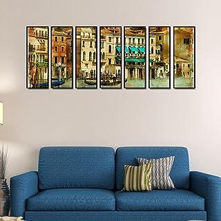 複数のフレーム999storeキャンバスプリントCity ScapeアートワークIndianインディアンLarge Indian Large Bigアートパネル壁painting- 7フレーム